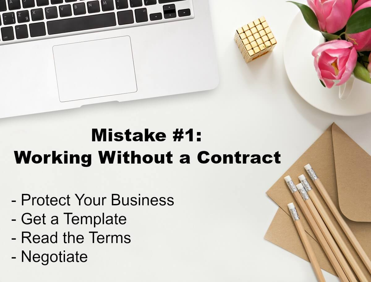 Mistake 1 When Working with Brands is Working Without a Contract