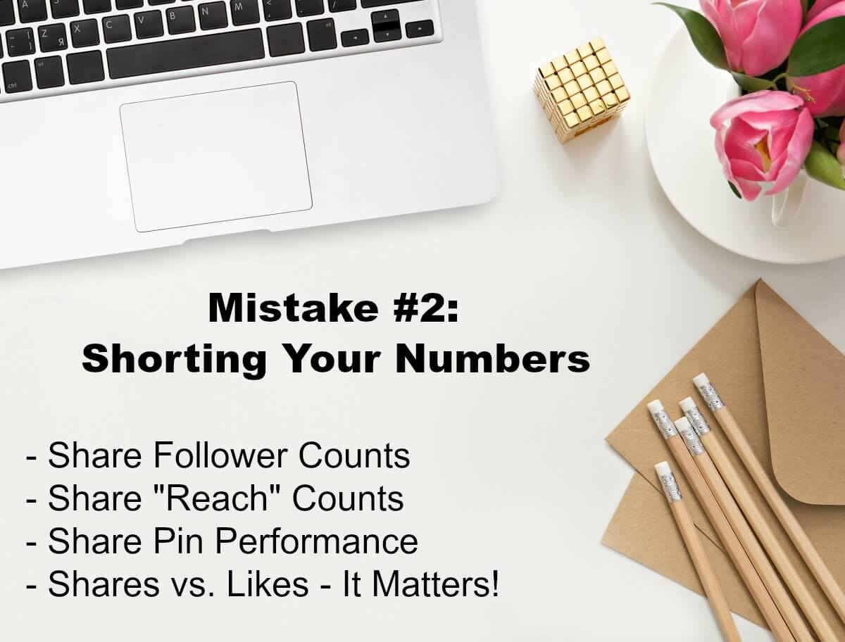 Mistake Number 2 When Working with Sponsored Content is that Influencers Often Short their Numbers