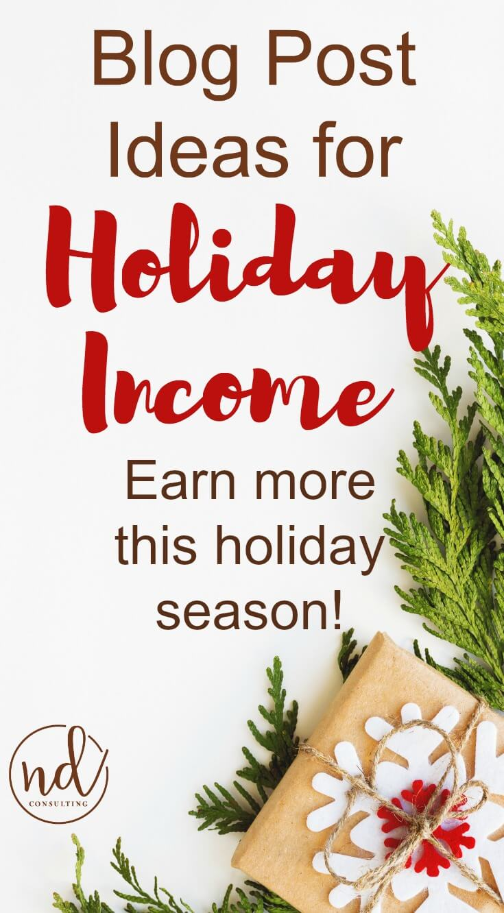Go beyond boring with these blog post ideas for Christmas and Holiday affiliate marketing income