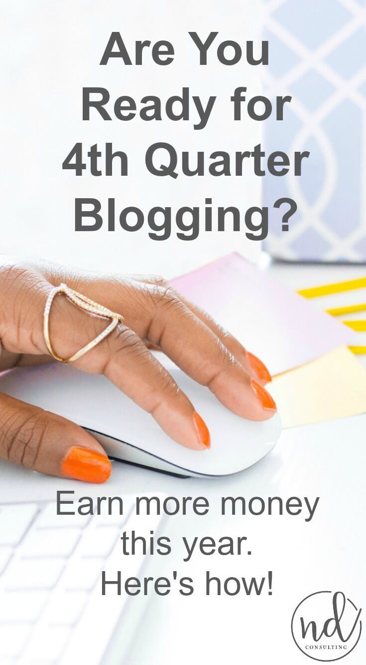 It's nearly time for the busiest season in content marketing: 4th quarter blogging. Here is how you can increase traffic and earn more blog income.