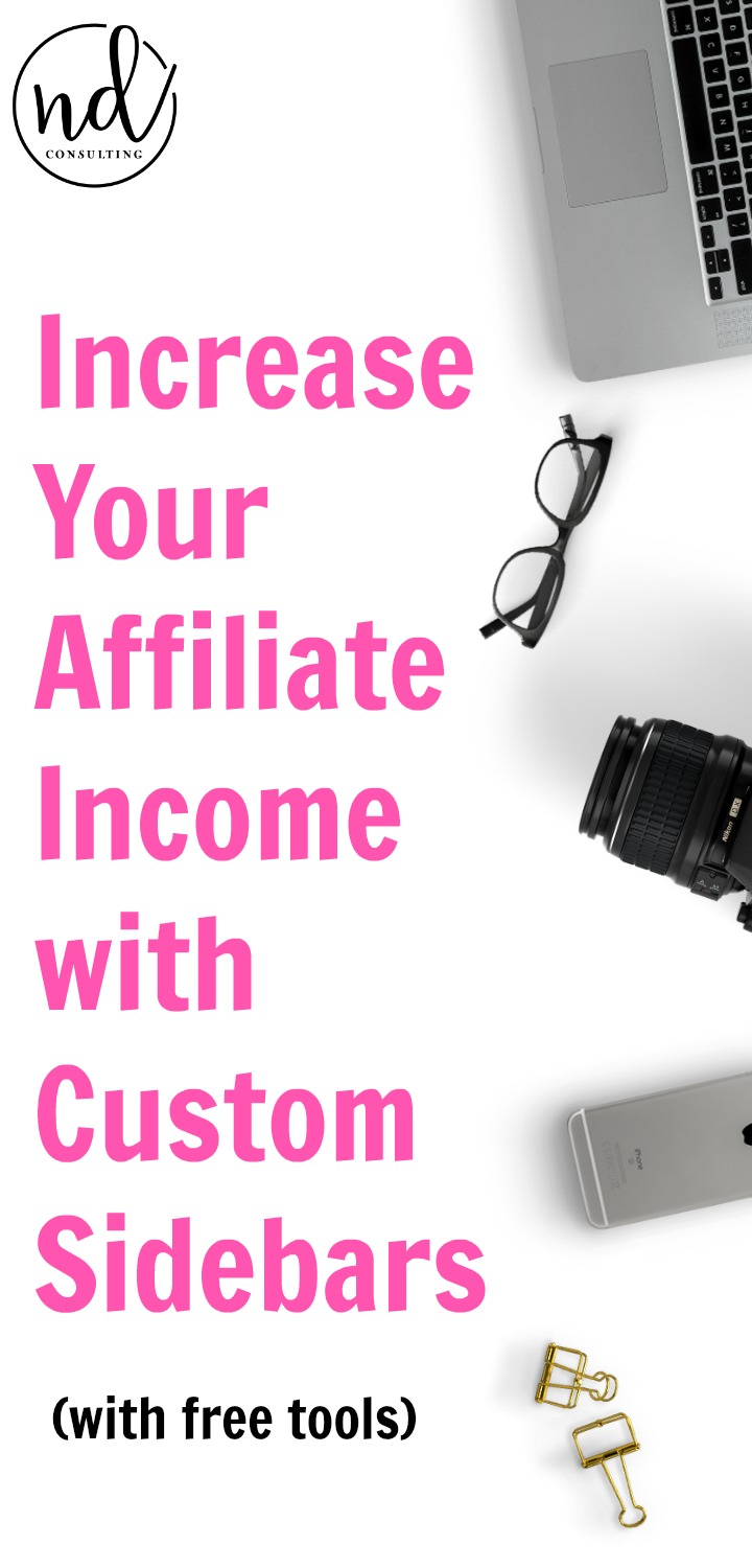 Increase Affiliate Income with Custom Sidebars and this free training