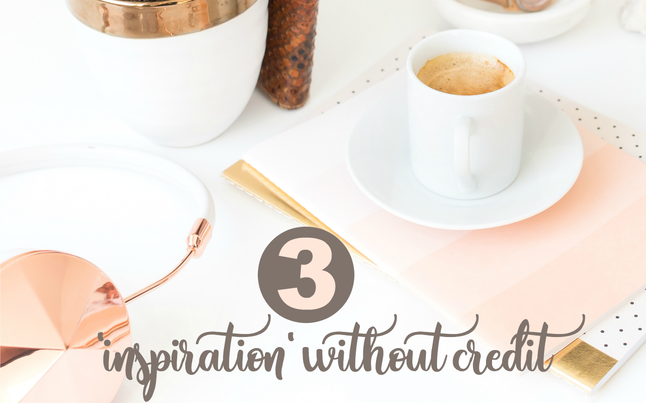 bad blogging habits include using others for inspiration without credit