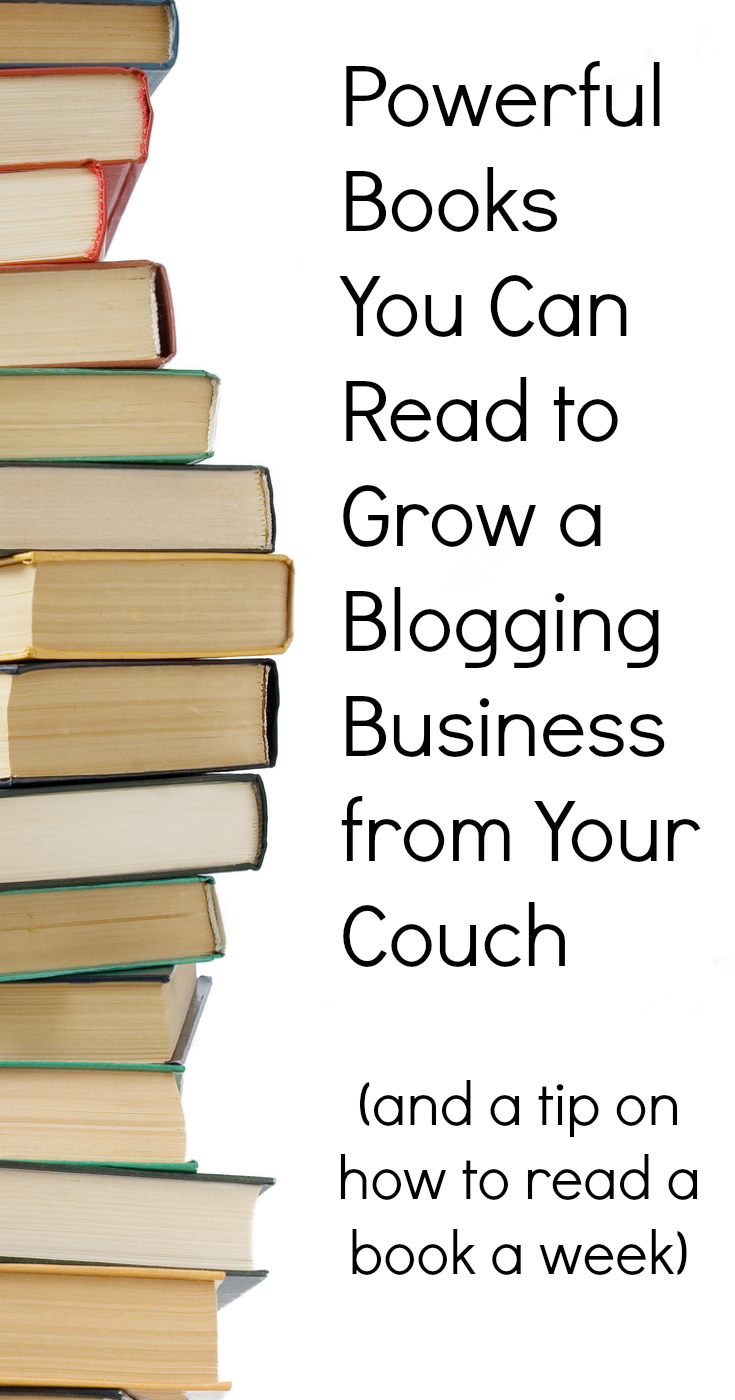 Here is a list of books to read to grow a blog business and make money blogging. #bloggingtips #blogging101 #makemoneyblogging #blogtips #contentmarketing