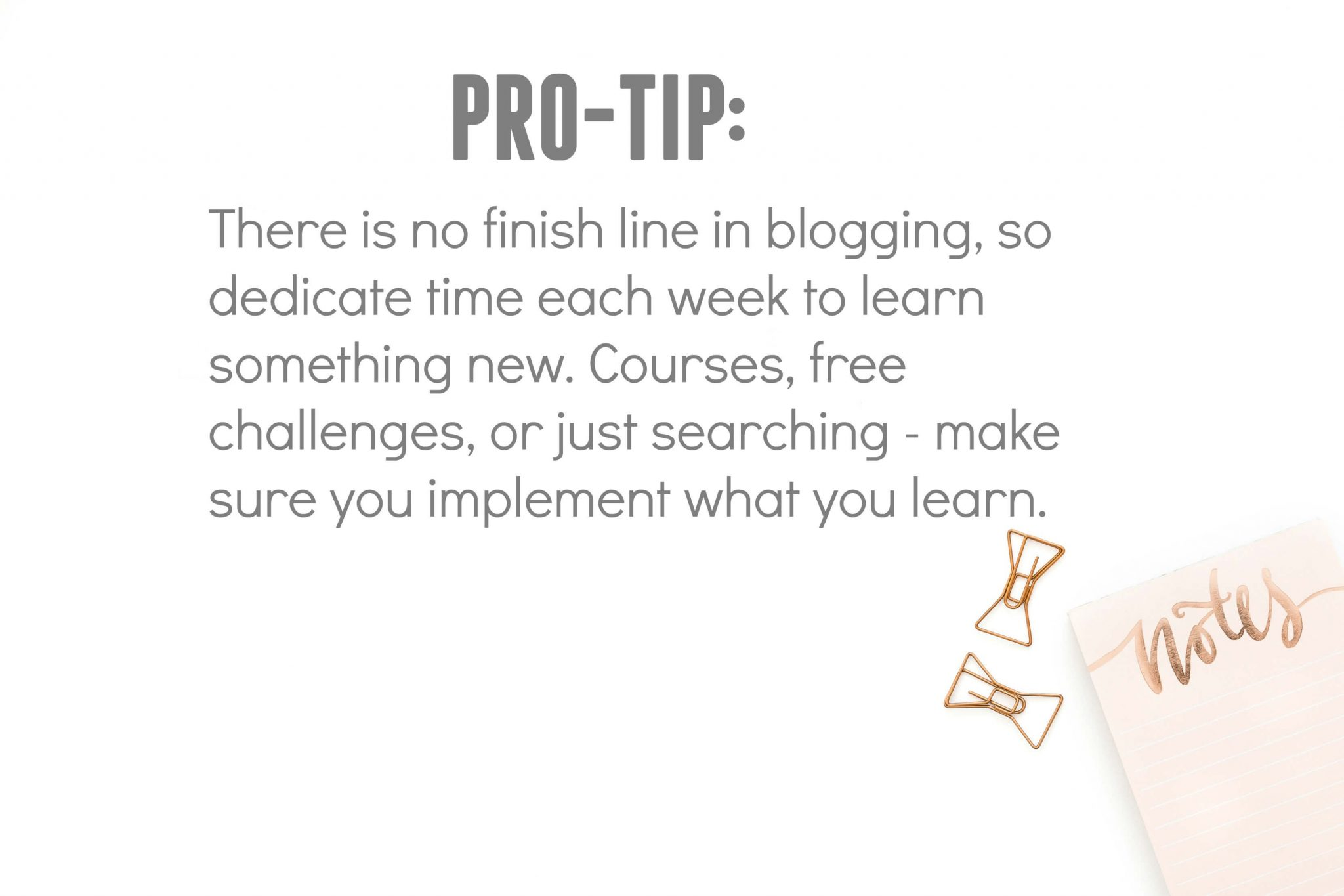 continuing education for professional bloggers