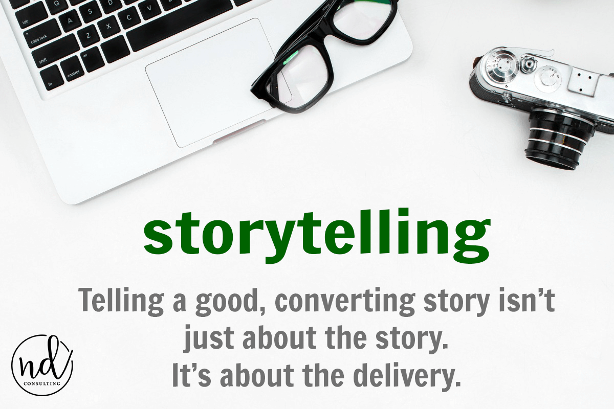 Telling a good story on your blog is not only about the story - delivery matters