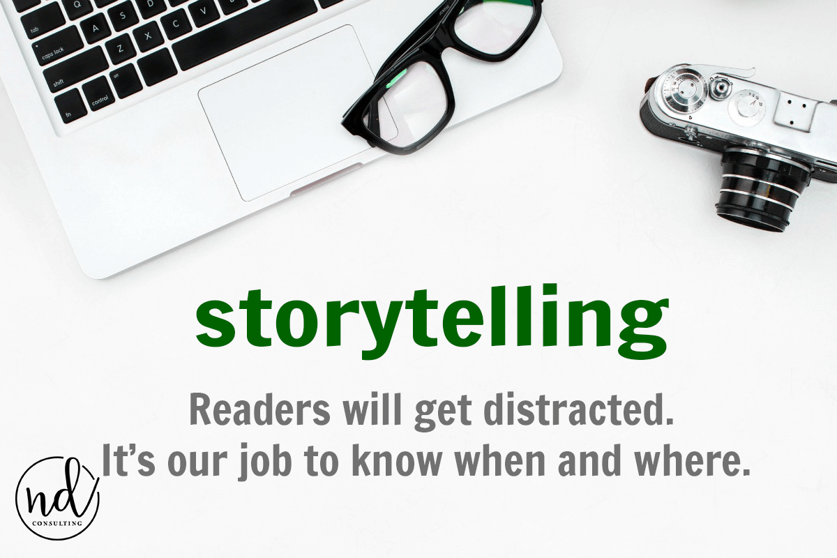 Readers get distracted and in content marketing we have to use copywriting to keep them engaged