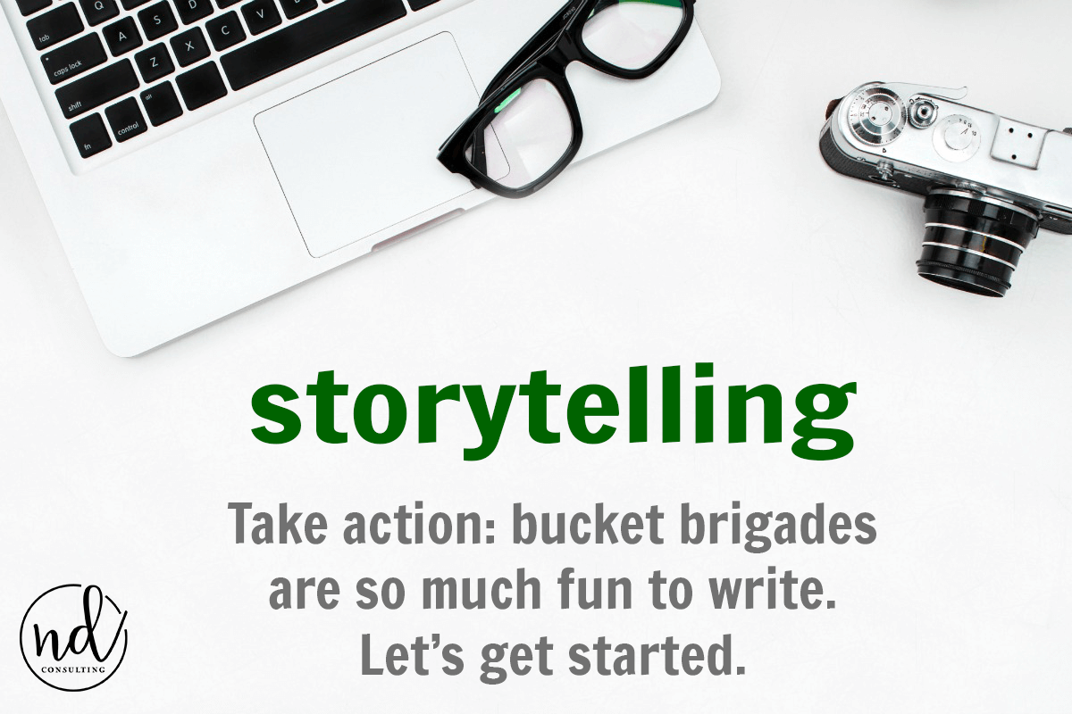 Take action and rewrite a blog post to add copywriting techniques like bucket brigades to reduce bounce rate