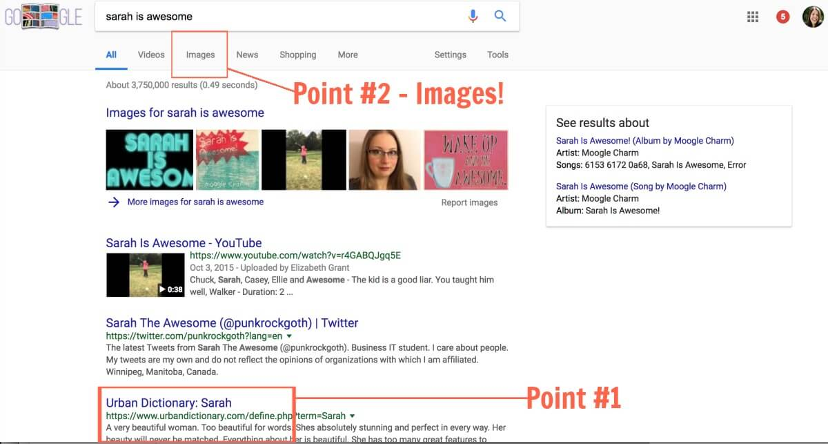 how to use Image search results SERP